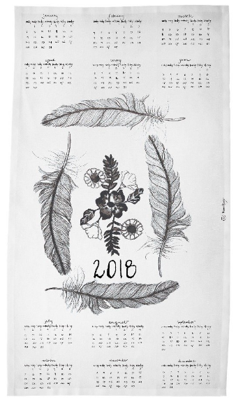 Diana Fayt Calendar Tea Towel